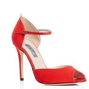 SJP URSULA red open toed.
